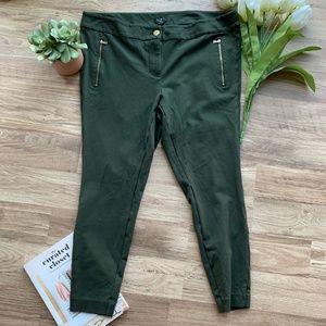 Loft Green Skinny Pants